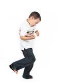 Junge, der erlernt zu boxen   lizenzfreies stockfoto