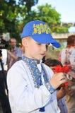 Junge in der nationalen ukrainischen Kleidung Lizenzfreies Stockfoto