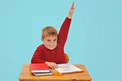 Junge an der Schule Stockfoto