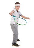 Junge, der Tennis spielt Lizenzfreies Stockbild