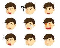 Junge der verschiedenen Gefühle Stockfoto