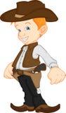 Junge, der Westcowboykostüm trägt Lizenzfreie Stockfotos