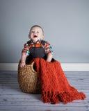 Junge des achtmonatigen Babys Lizenzfreie Stockbilder