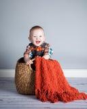 Junge des achtmonatigen Babys Lizenzfreies Stockfoto