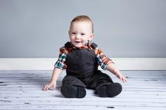 Junge des achtmonatigen Babys Stockbilder