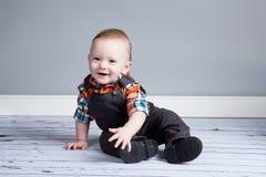 Junge des achtmonatigen Babys Stockbild
