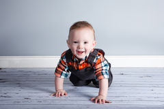 Junge des achtmonatigen Babys Stockfoto