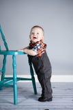 Junge des achtmonatigen Babys Lizenzfreies Stockbild