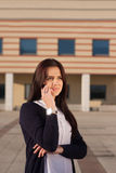 Junge ehrgeizige Geschäftsfrau Lizenzfreie Stockfotografie