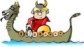 Junge in einem Boot lizenzfreie abbildung