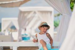 Junge in einem Hut Lizenzfreie Stockfotografie