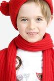 Junge in einer roten Schutzkappe stockbild
