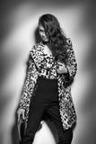 Junge elegante Frau des Porträts Art und Weisestudioschuß Lizenzfreie Stockfotografie