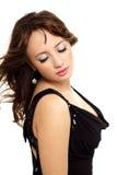 Junge Eleganzfrau mit den Schönheitshaaren Stockfotos