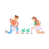 Junge erbieten Mann und Frau freiwillig Stockbilder