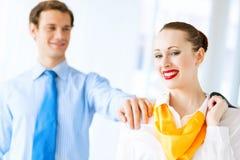 Junge erfolgreiche Geschäftsfrau Lizenzfreies Stockbild