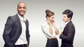 Junge erfolgreiche Geschäftsleute Stockfoto