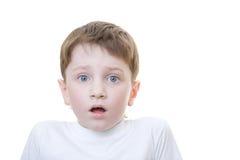 Junge erschrocken Stockfotografie