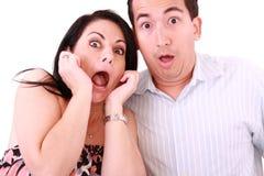 Junge erwachsene Paare im Kinofilm stockbilder