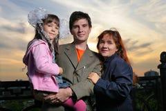 Junge Familie Stockbilder