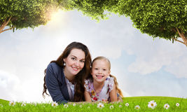 Junge Familie Stockfotografie