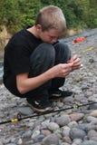 Junge Fischer lizenzfreies stockfoto