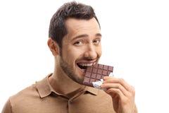 Junge Fleisch fressende Schokolade stockfoto