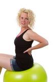 Junge Frau auf einem Eignungs-Ball Stockfotos