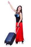 Junge Frau bereit zu den Sommerferien Lizenzfreies Stockfoto