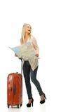 Junge Frau bereit zu reisen Lizenzfreies Stockfoto