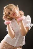 Junge Frau in den Handschellen Lizenzfreies Stockfoto