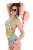 Junge Frau in den Sonnegläsern Stockfotografie