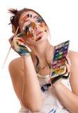 Junge Frau der Künstler Lizenzfreie Stockbilder
