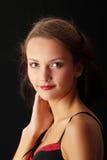 Junge Frau in der reizvollen Wäsche Stockfotografie