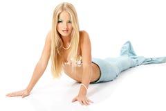 Junge Frau der schönen magischen Mythologie der Meerjungfrau Stockfotos