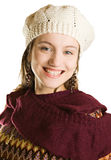 Junge Frau in der Winterkleidung Stockbilder