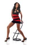 Junge Frau des Afroamerikaners Stockfoto