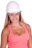 Junge Frau des Industriearbeiters Lizenzfreie Stockfotografie