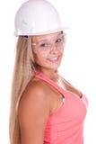 Junge Frau des Industriearbeiters Lizenzfreies Stockbild