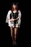 Junge Frau des Piraten Stockfotos
