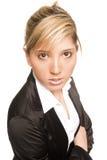Junge Frau des Portraits Stockfoto