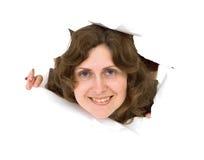 Junge Frau des Portraits Lizenzfreie Stockbilder
