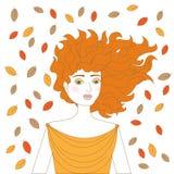 Junge Frau des Redhead Vektor Abbildung