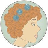 Junge Frau des Redhead Stockbilder