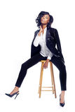 Junge Frau des schönen Afroamerikaners Stockfotografie