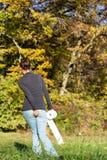 Junge Frau, die über Diarrhöe leidet Lizenzfreie Stockfotografie