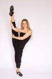 Junge Frau, die Ballett tut Stockfotografie