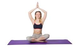 Junge Frau, die Übungen tut Lizenzfreie Stockbilder