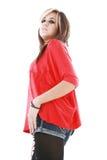 Junge Frau, die eine Punkart trägt lizenzfreie stockbilder