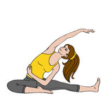 Junge Frau, die exercise_02 tut vektor abbildung